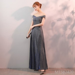 Noble atmosphere ladies temperament slim banquet dress long section