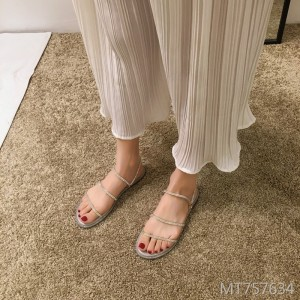 Cute fashion slippers ins fairy wind two wearing flat shoes tide