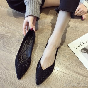 Summer black light mouth flat bottom scoop shoes fashion soft bottom fairy peas