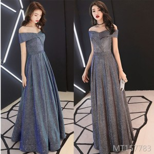 Elegant and slim, sexy temperament, ladies' annual dress