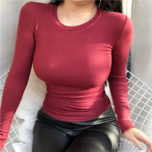 New product foundation sexy tight bottoming shirt T-shirt women's clothing