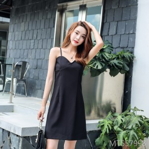 2019 new sling slim dress