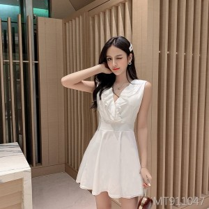 V-neck flower nightclub dress