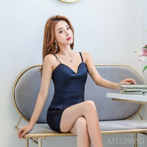 Slim sling strapless dress dress hip dress female