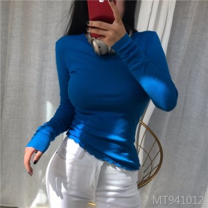 New wild sexy micro-shirt bottoming shirt T-shirt women's clothing