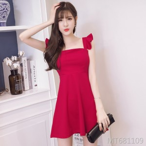 New temperament ladies sleeveless strap dress