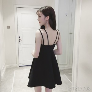 Open back dress tutu sexy tube top small black dress