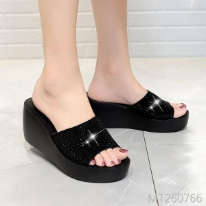New waterproof platform sandals Korean version of thick-bottomed cow suede handmade shoes