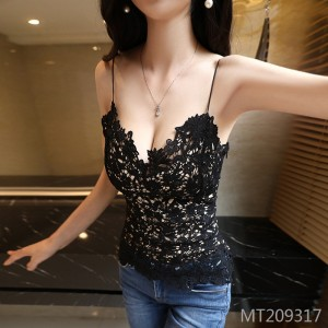 Lace low-cut nightclub strap sexy vest