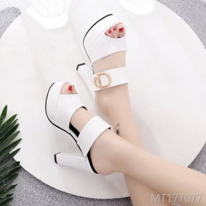 Korean version of handmade sandals female fish mouth waterproof platform thick high heel sandals and slippers