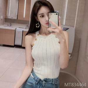 Temperament Fashion Sleeveless Sleeve Top Slim Slim Knit Sweater