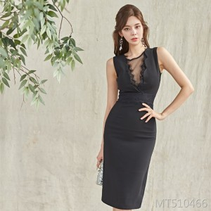 Lace stitching slim sexy dress