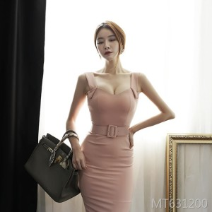 Sexy V-neck Halter Slim Slim Strap Dress