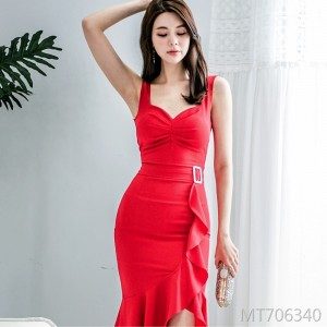 Sexy Slim Irregular Dress Dress