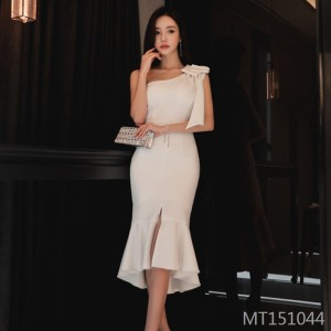 Bow Annual Meeting Mini Dress Dress Fishtail Skirt