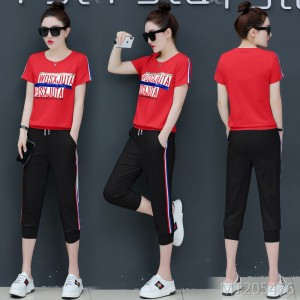 New wave Korean version of thin fashion short sleeve loose two-piece