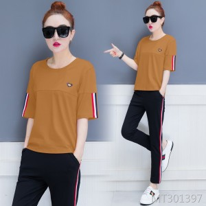 Korean version of the fashion loose casual summer two-piece sportswear tide