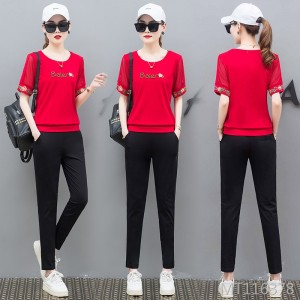 Fashion loose short-sleeved casual two-piece summer sportswear