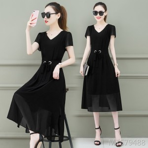 Temperament, long waist, slimming 40 to 50 years old a skirt