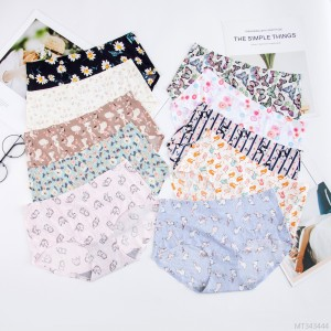 Comfortable printed floral mid-rise sexy briefs