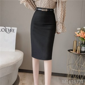 2019 new bag hip skirt with belt zipper open skirt
