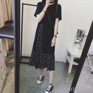 Covered belly meat slimming age dress