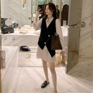 Fashion shirt skirt two sets of foreign gas
