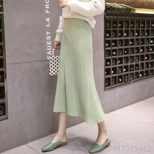 Big swing skirt pleated thin A word in the long skirt tide