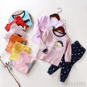 2019 autumn children's underwear set cotton home clothes