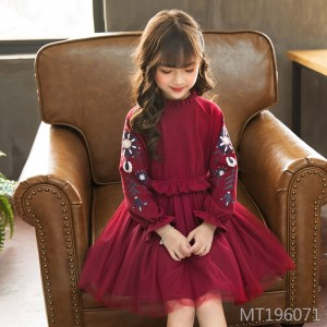 2019 new spring and autumn big children's clothing baby mesh skirt