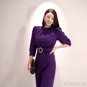 Korean version of professional commuter professional gas field straight jumpsuit