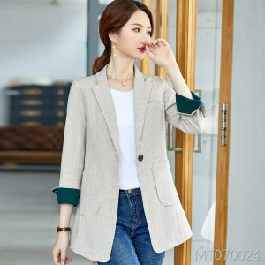 Korean version of the net red loose foreign gas long section suit jacket tide