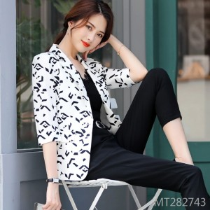 Korean version of the waist wild white small suit women's jacket