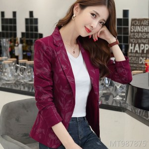Short Slim Retro Vintage Slim Suit Jacket Women