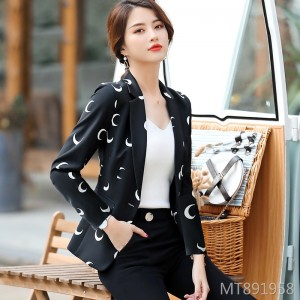 New Korean fashion long sleeve casual chic small suit