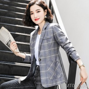 Large size long sleeve casual temperament chic small suit short paragraph