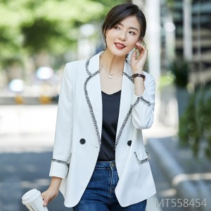 Hong Kong-style retro-style casual small suit female jacket suit tide