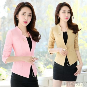 One button small suit jacket women's short suit short jacket