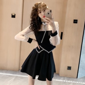 Goddess Fan Cheongsam temperament suit skirt two-piece