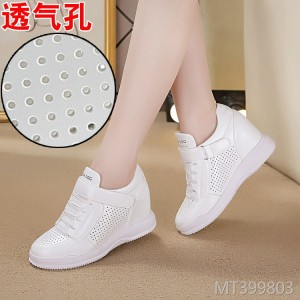 Flat bottom increased with casual female student shoes Velcro