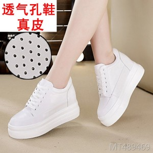 Leather Korean version of the thick bottom with casual shoes