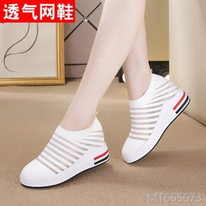 Increase the flying woven mesh casual sports shoes shoes