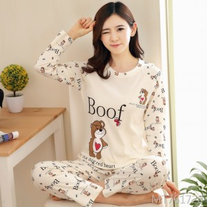 Thin section cute cotton spring and autumn home service two-piece suit