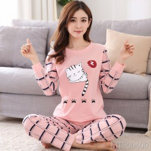 Large size cute long-sleeved trousers can be worn casual and comfortable home service suits
