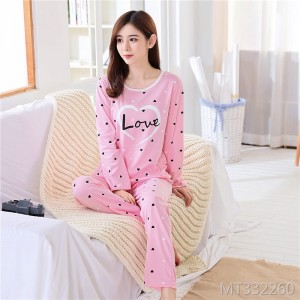 Korean version of the large size can be worn outside the cartoon thin section cotton home service casual suit