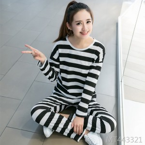 Pajamas Women's Spring and Autumn Thin Cotton Long Sleeve Two-Piece Set