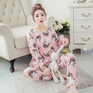 Girly cartoon thin section cotton home service casual suit