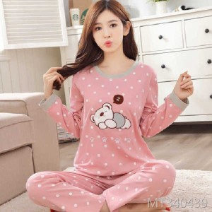 Pure cotton thin cute student loose home service two-piece casual suit