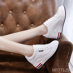 New increase with single shoes sandals women low to help leather casual shoes