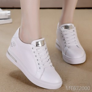 2019 spring and autumn breathable women's shoes new flat-bottom casual increase